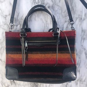 Rebecca Minkoff Regan Satchel Sunset Boiled Wool